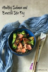 Fresh salmon combines with crisp broccoli and red pepper on a bed of brown rice in my Easy Salmon and Broccoli Stir Fryrecipe. This is a rice bowl with a difference!