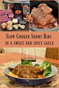 Short Ribs in a Sweet and Spicy Sauce Made in the Slow Cooker