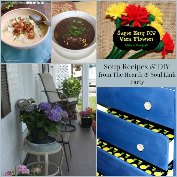 Soup Recipes and DIY from The Hearth and Soul Link Party