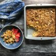 Baked Overnight Oatmeal with Rhubarb and Almonds Recipe - Easy, Healthy and Delicious too