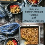 My Baked Overnight Oatmeal with Rhubarb and Almonds is a healthy breakfast with a difference! Even if you don't think you like oatmeal, you will love this!