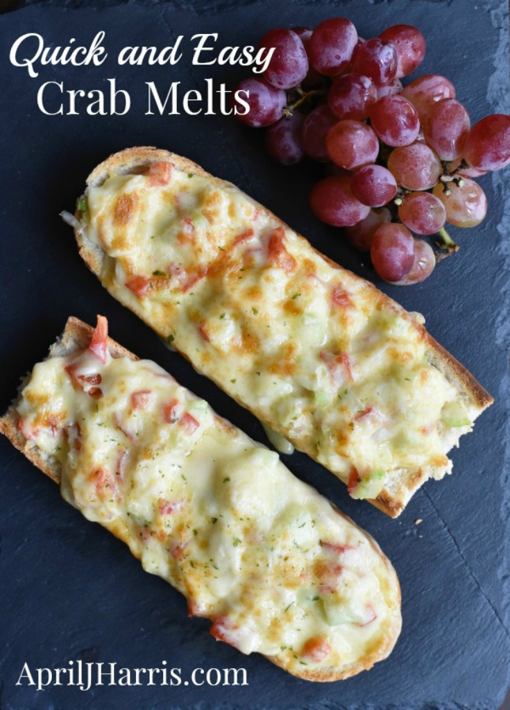 Quick and Easy Crab Melts Recipe - Crab Melts are a fast, easy and delicious way to enjoy fresh or canned crab meat, perfect as a meal in themselves or sliced as finger food at parties.