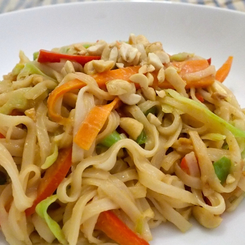 Vegan Pad Thai with a Gluten Free Option