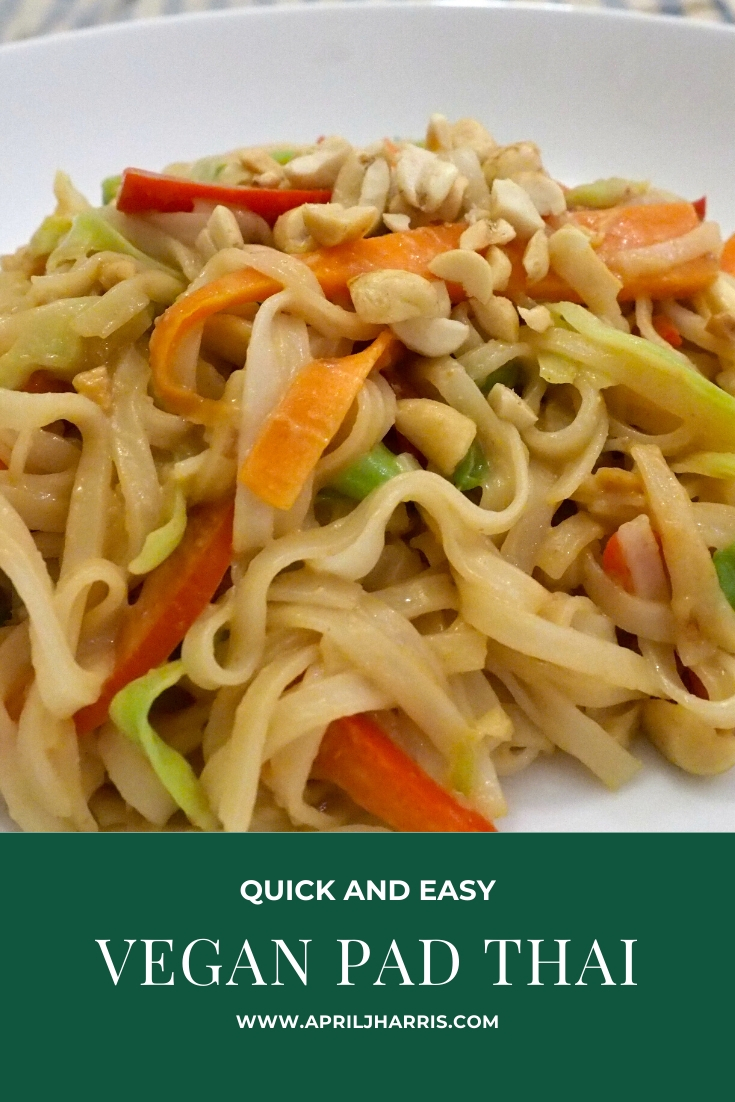 Vegan Pad Thai with a Gluten Free Option - April J Harris