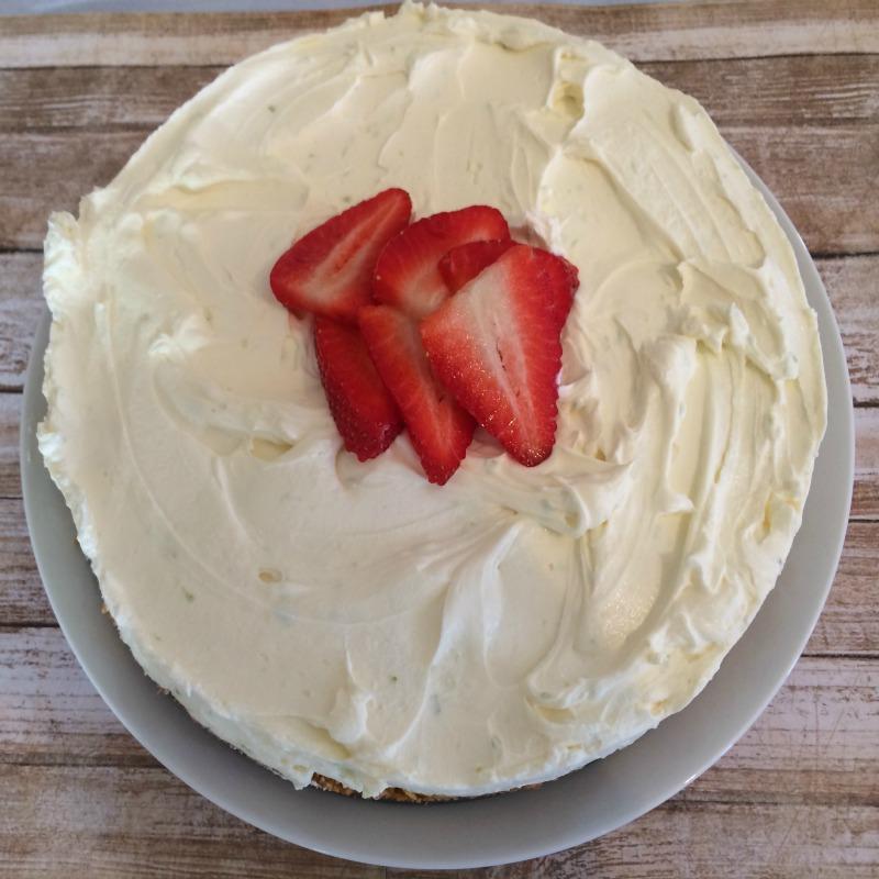 Easy No Bake Lime Cheesecake