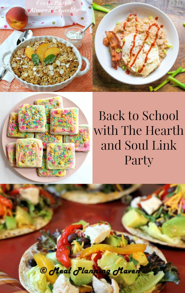 Back to School with The Hearth and Soul Link Party where we welcome you to share blog posts about anything that feeds the soul