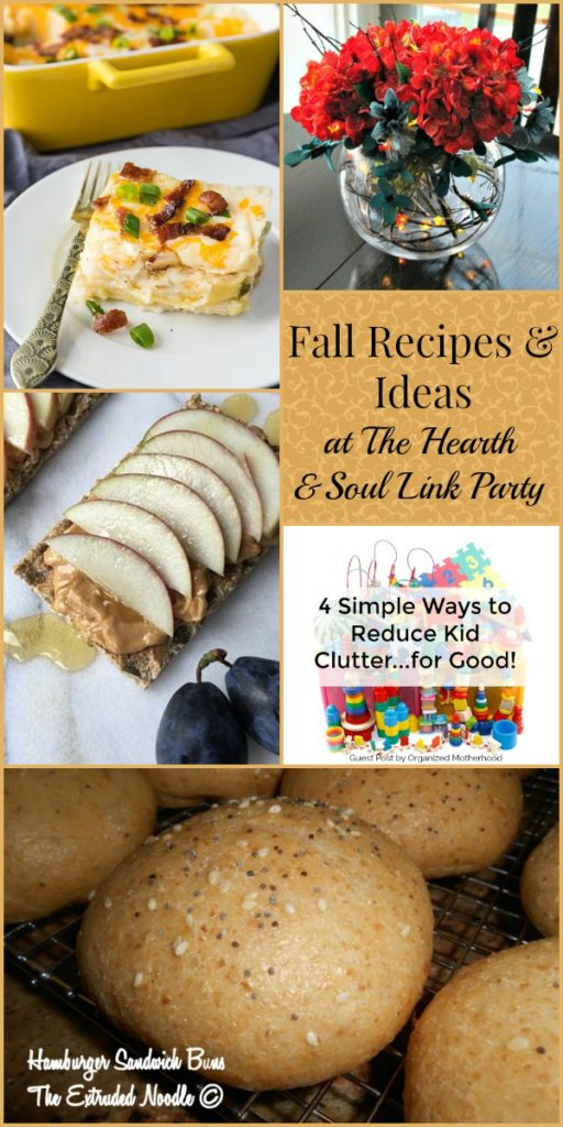 Fall Recipes and Ideas at The Hearth and Soul Link Party. We invite you to share posts about anything that feeds your soul
