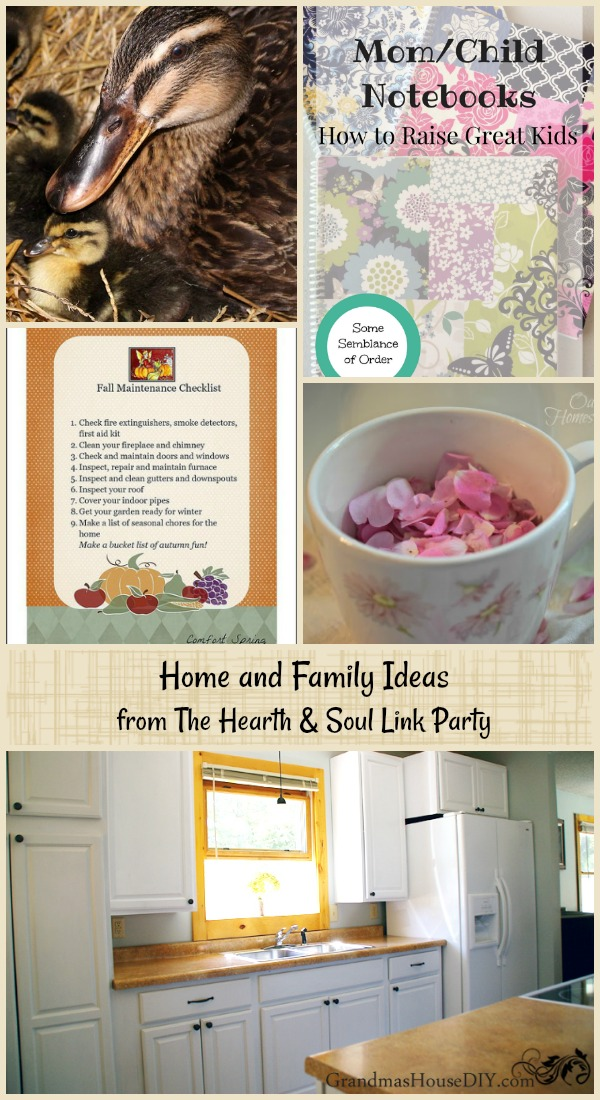 Home and Family Ideas from The Hearth and Soul Link Party where we welcome blog posts about anything that feeds the soul