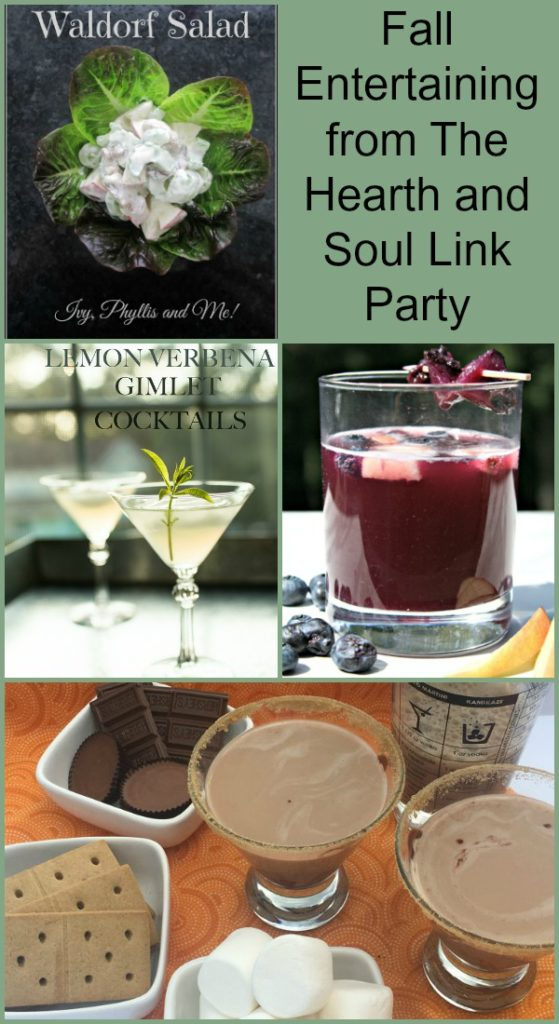 Fall Entertaining s at The Hearth and Soul Link Party where we welcome posts about anything that feeds your soul