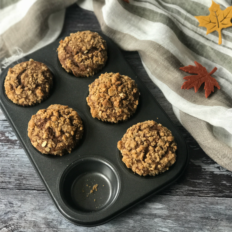 Streusel topped and deliciously spiced, this Pumpkin Gingerbread Muffins recipe was inspired by a visit to Grasmere in England's Lake District.