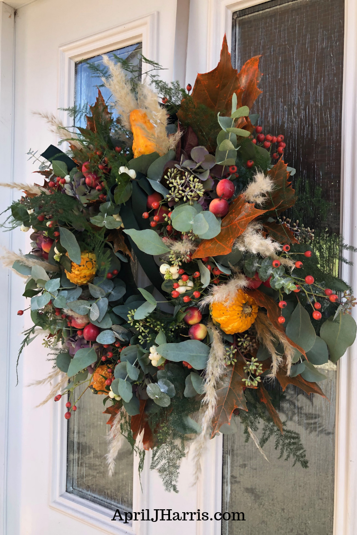 Freshen up your home for fall with a decorative wreath