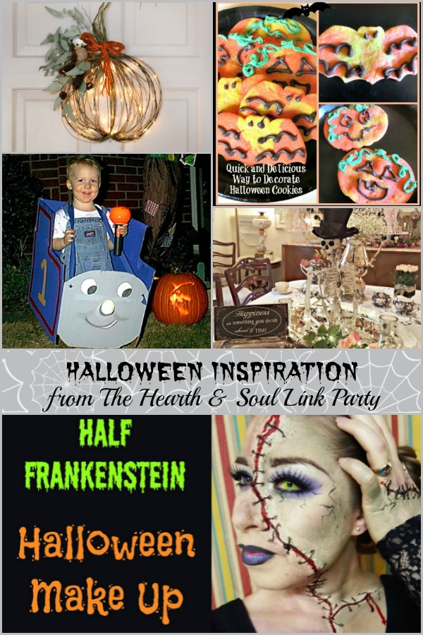 Halloween inspiration is featured at this week's Hearth and Soul Link Party where you are welcome to share blog posts about anything that feeds the soul.
