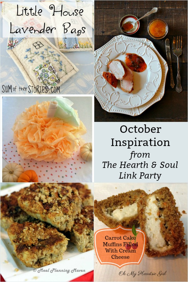 October Inspiration from The Hearth and Soul Link Party where we welcome you to share blog posts about anything that feeds the soul