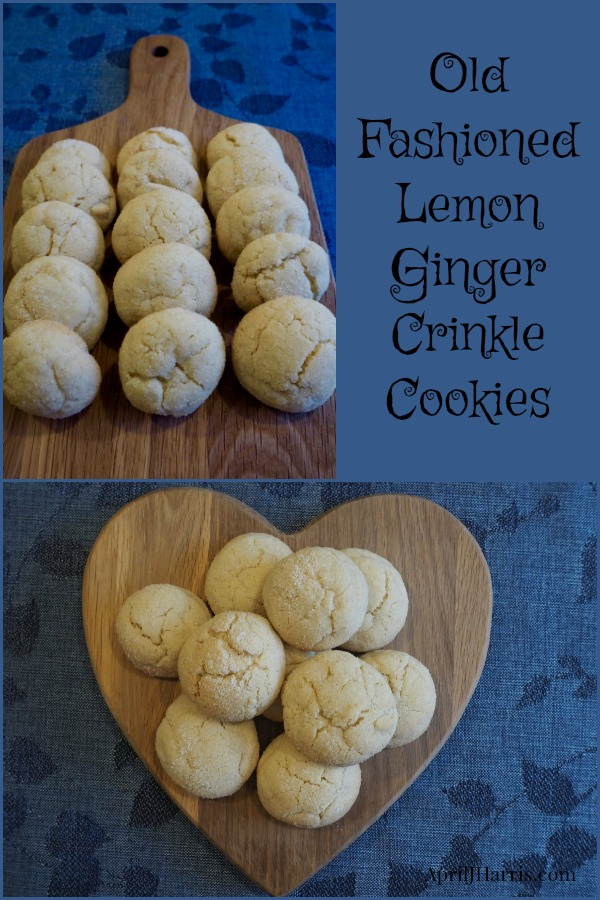 Fashioned Lemon Cookie Recipe: Old-Fashioned Lemon Ginger Crinkle Cookies