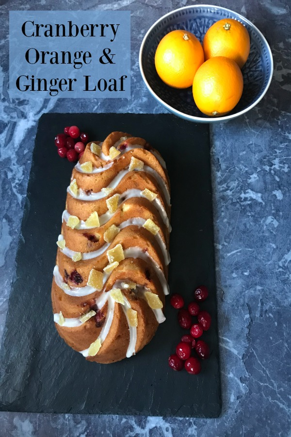 The flavours of Thanksgiving and Christmas combine in this warmly spiced, fruit studded Cranberry Orange and Ginger Loaf Cake Recipe. It's perfect for entertaining, as a thoughtful foodie gift, or just to have on hand for snack emergencies!