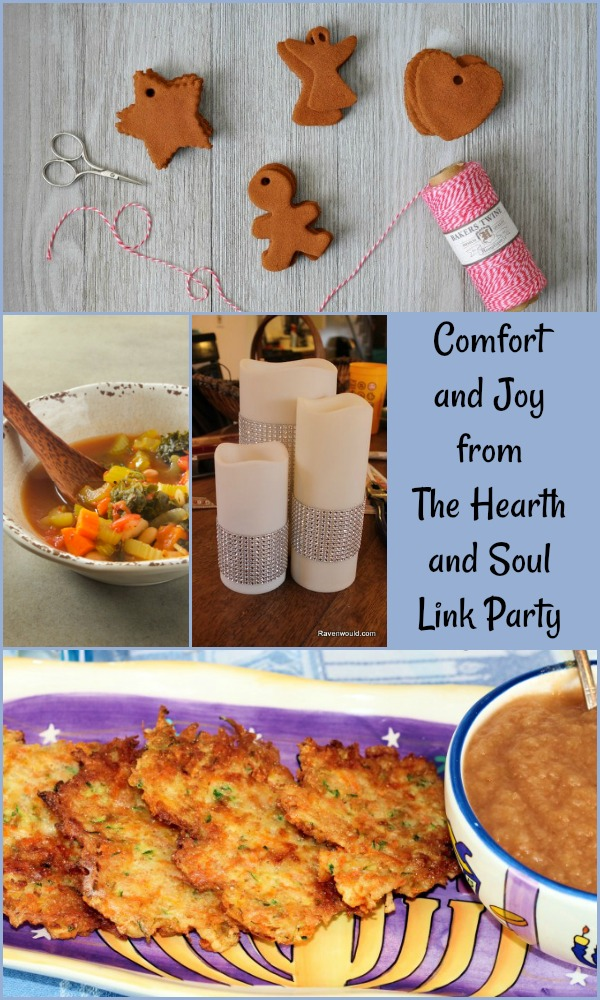 Comfort and Joy from The Hearth and Soul Link Party where you are invited to share blog posts about anything that feeds the soul