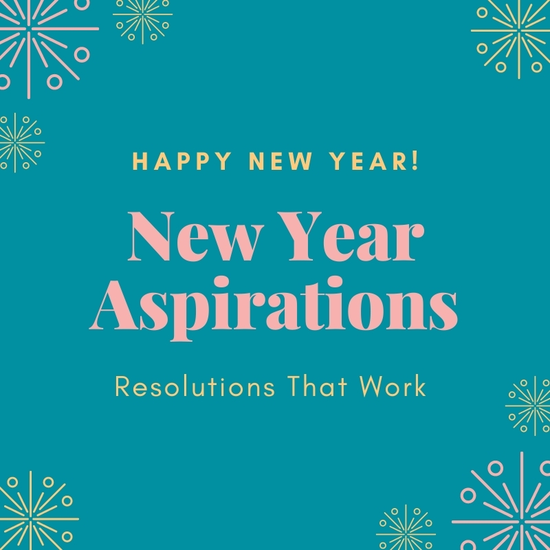 New Year Aspirations - Resolutions That Work sign