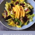 Beet and Mango Salad with Walnuts