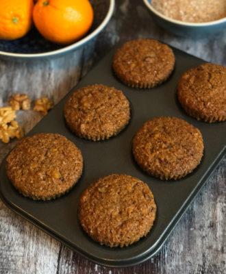 Carrot Walnut Bran Muffins recipe