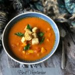 My Best Vegetarian Mulligatawny Soup is warmly spiced comfort food in a bowl. It's chock full of veggies and you can adjust the spicing to suit your family's tastes.