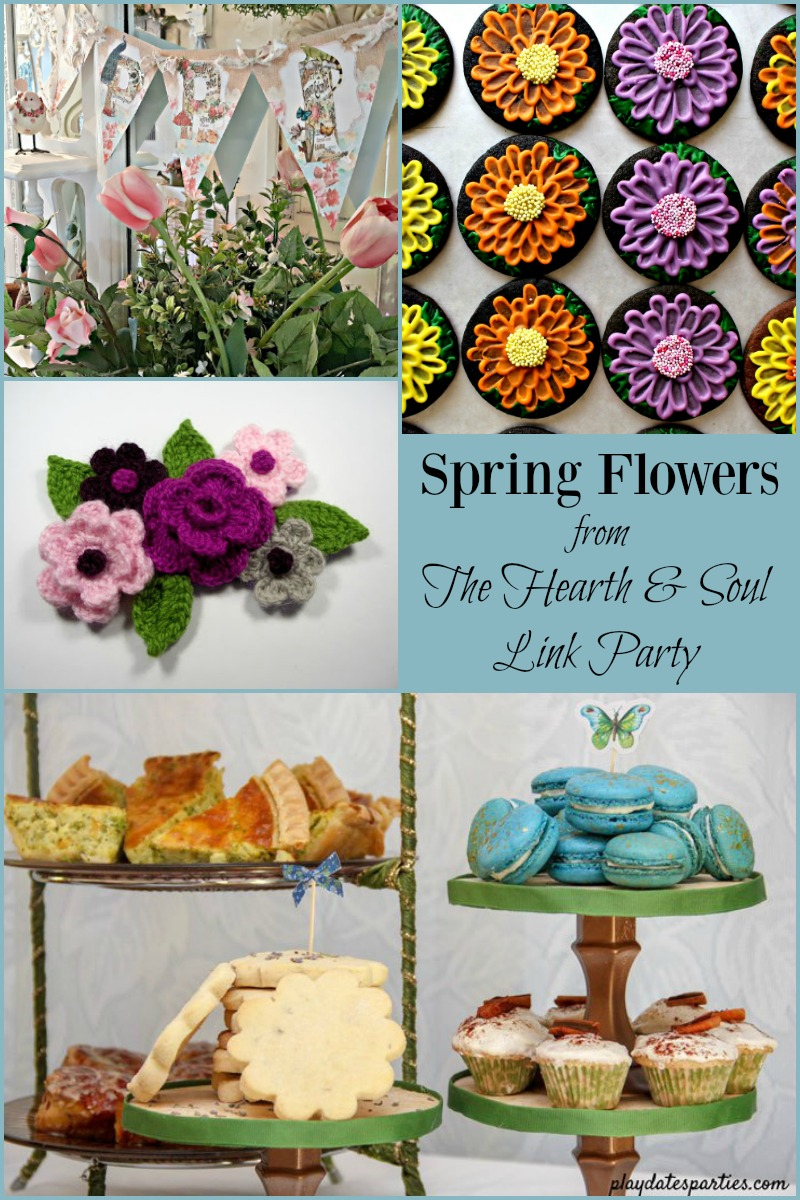 Spring Flowers at The Hearth and Soul Link Party where you are welcome to share blog posts about anything that feeds the soul