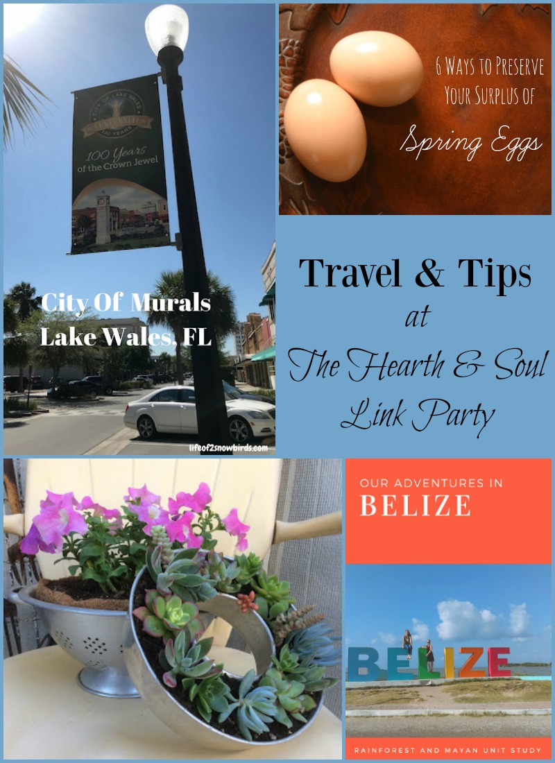 Travel and Tips from the Hearth and Soul Link Party where blog posts about anything that feeds the soul are welcome