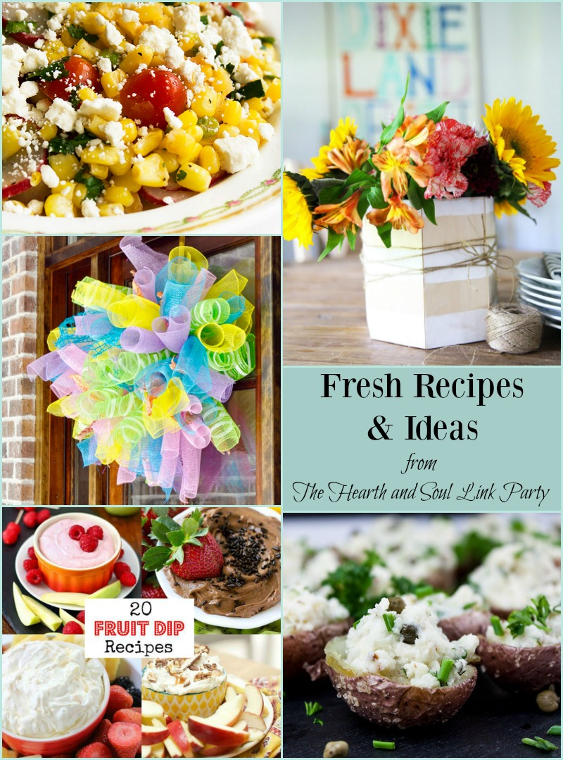 Get Fresh Recipes and Ideas at The Hearth and Soul Link Party! And please share your blog posts about anything that feeds the soul!
