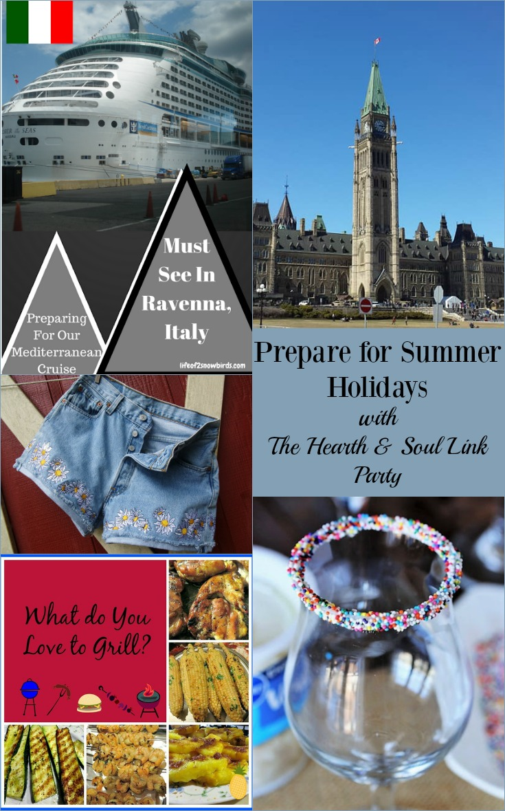 Prepare for Summer Holidays with The Hearth and Soul Link Party where bloggers are welcome to share posts about anything that feeds the soul