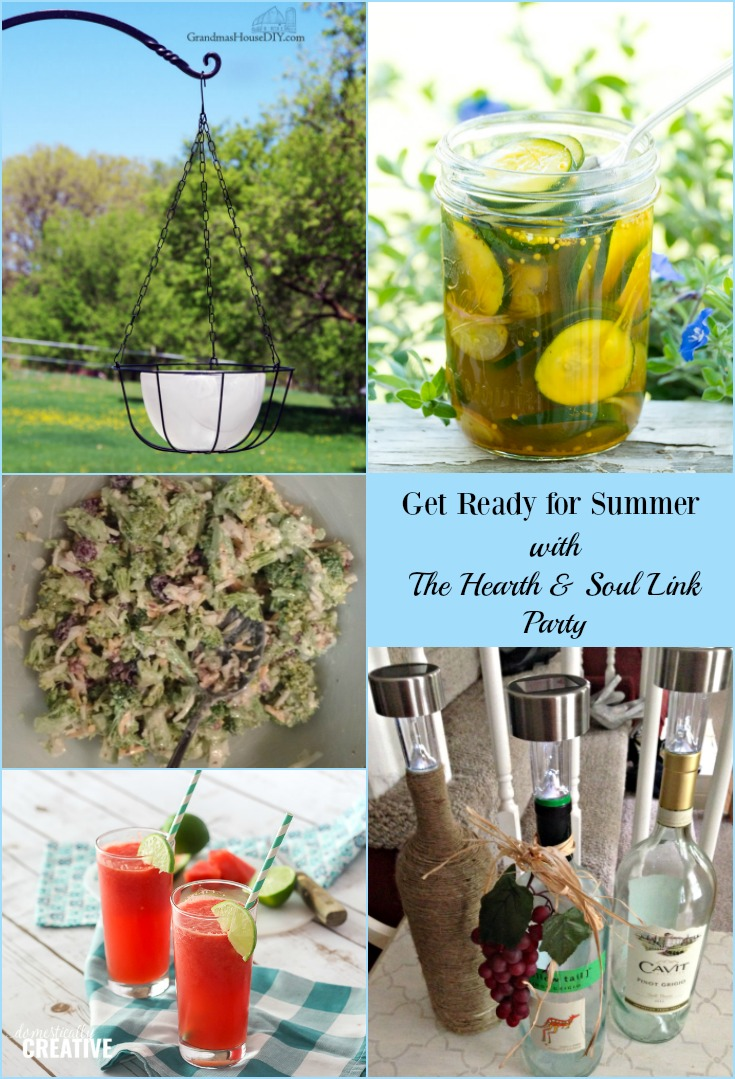 Get ready for summer with this week's Hearth and Soul Link Party! We've got recipes, ideas and inspiration to help you make the most of this wonderful season. Join us and share blog posts about anything that feeds the soul.