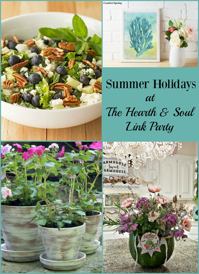 Summer Holidays at The Hearth and Soul Link Party. Join us for inspiration and to share family friendly posts about anything that feeds the soul!