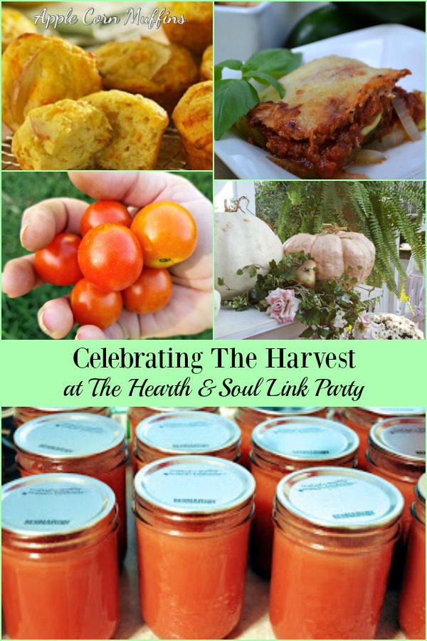 Celebrating The Harvest at The Hearth and Soul Link Party with recipes, decorating ideas & more to help you make the most of the season and its bounty