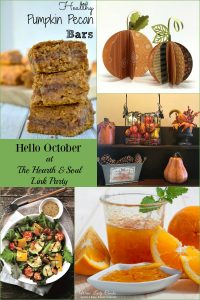 Hello October! Celebrating the arrival of fall's most beautiful month at The Hearth and Soul Link Party