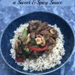 My Beef and Vegetable Stir Fry with a Sweet and Spicy Sauce recipe is full of wholesome ingredients, richly but mildly spiced, for an easy to make meal the whole family will enjoy.