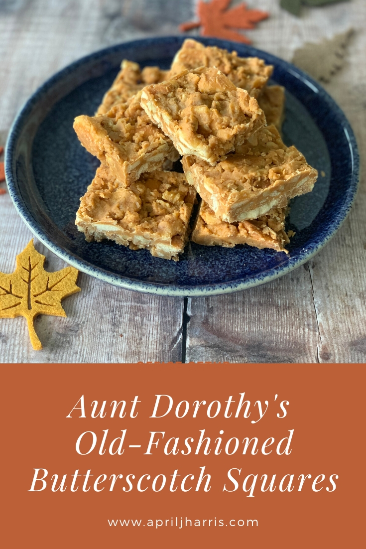 Old Fashioned Butterscotch Squares served