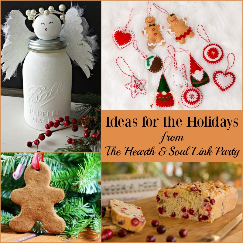 Looking for ideas for the holidays? We've got your back at The Hearth & Soul Link Party with holiday recipes and crafts, DIY, decorating and more! Join us & share your blog posts about anything that feeds the soul!