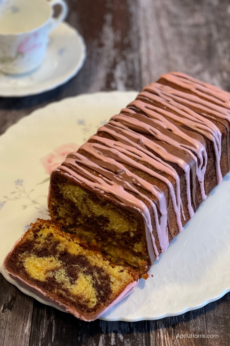 Chocolate Orange Marble Cake with step by step instructions