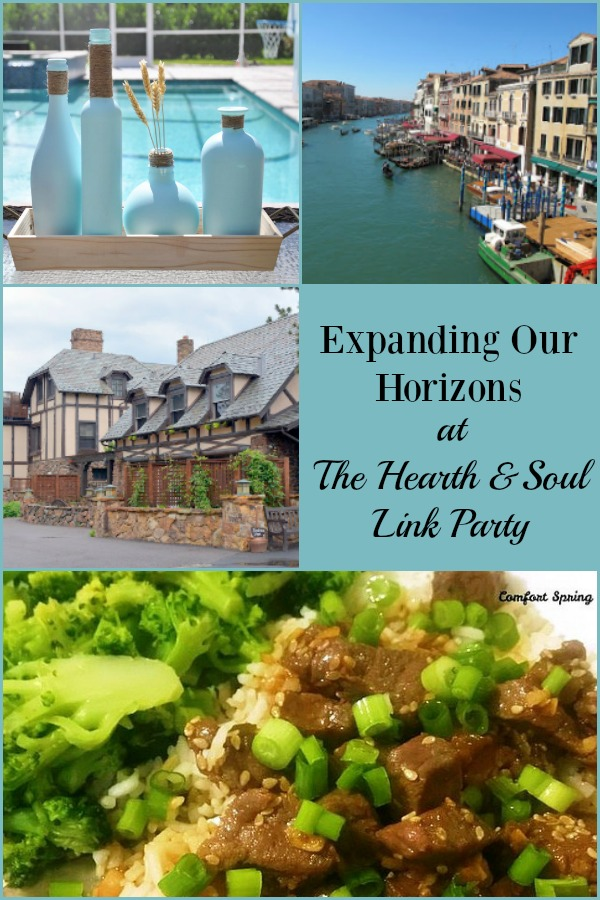 The cure for the February blahs? Expanding our horizons! At The Heath and Soul Link Party this week we hope to inspire you to explore new options and maybe try something new! Join us and share family friendly blog posts about anything that feeds the soul.