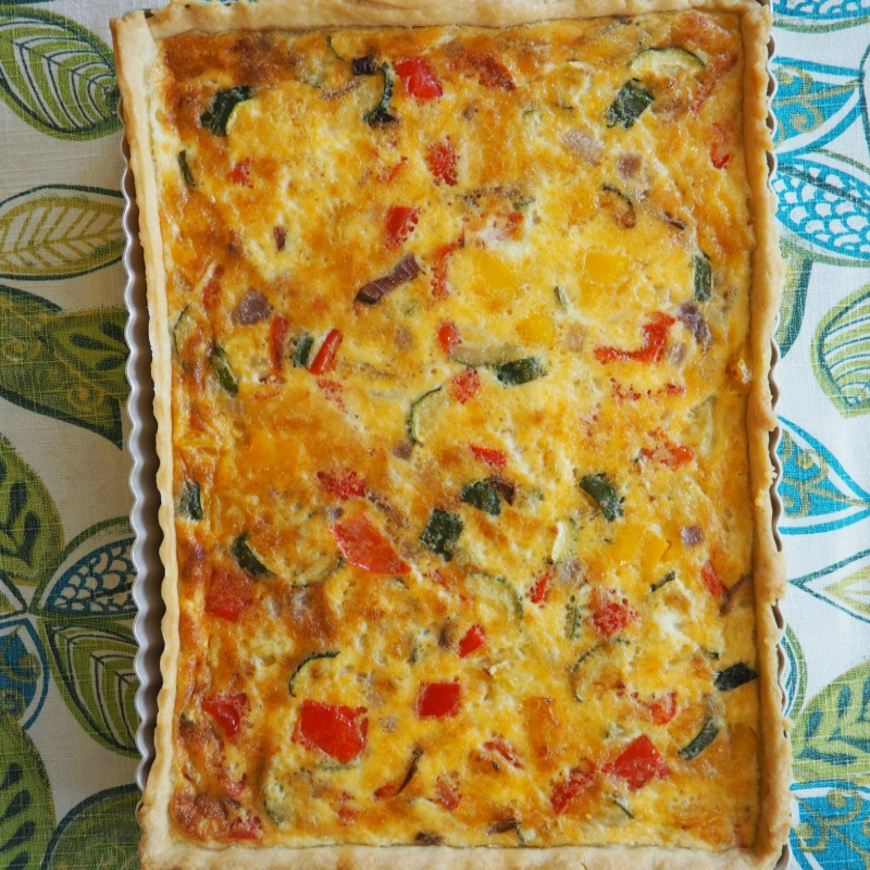 Easy Vegetarian Quiche Recipe April J Harris