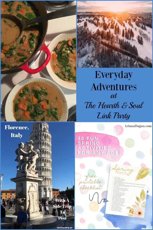 You can have an adventure anywhere! Everyday adventures at The Hearth & Soul Link Party are about expanding your horizons both at home and away.