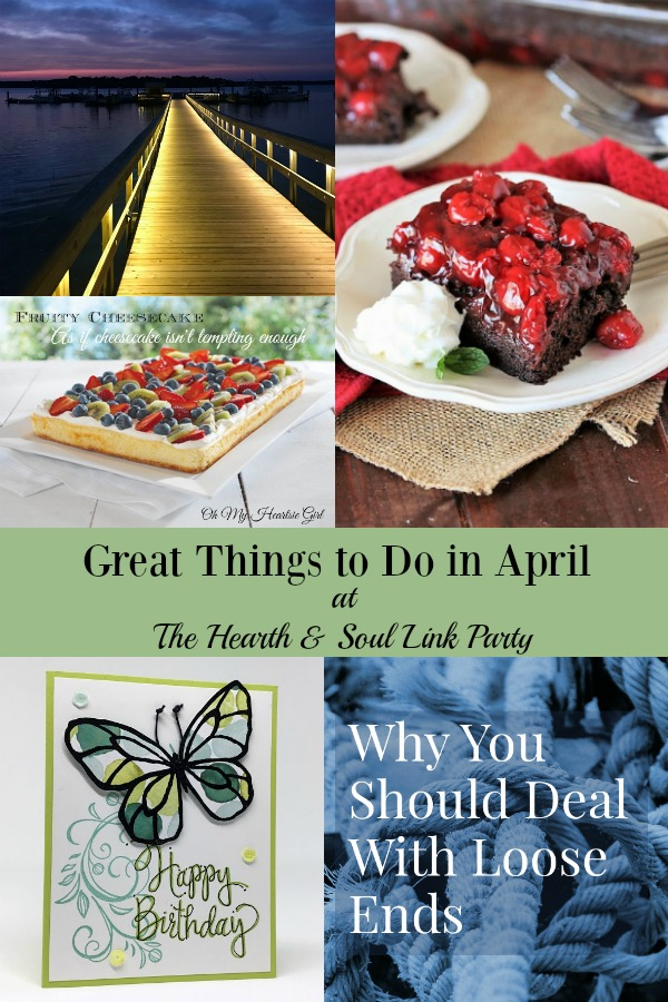 Get even even more out of spring with Great Things to Do in April at the Hearth and Soul Link Party! Join us for inspiration and to share!