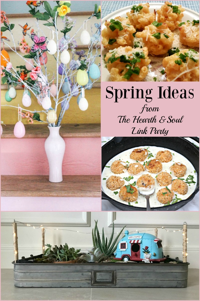 Whatever the weather is like where you are, we've got fun spring ideas to make the season extra special at The Hearth and Soul Link Party. Please share your blog posts about anything that feeds the soul.