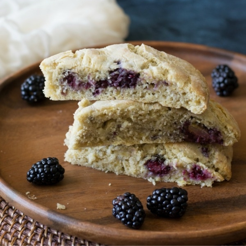Fruit Scones served on a plate
