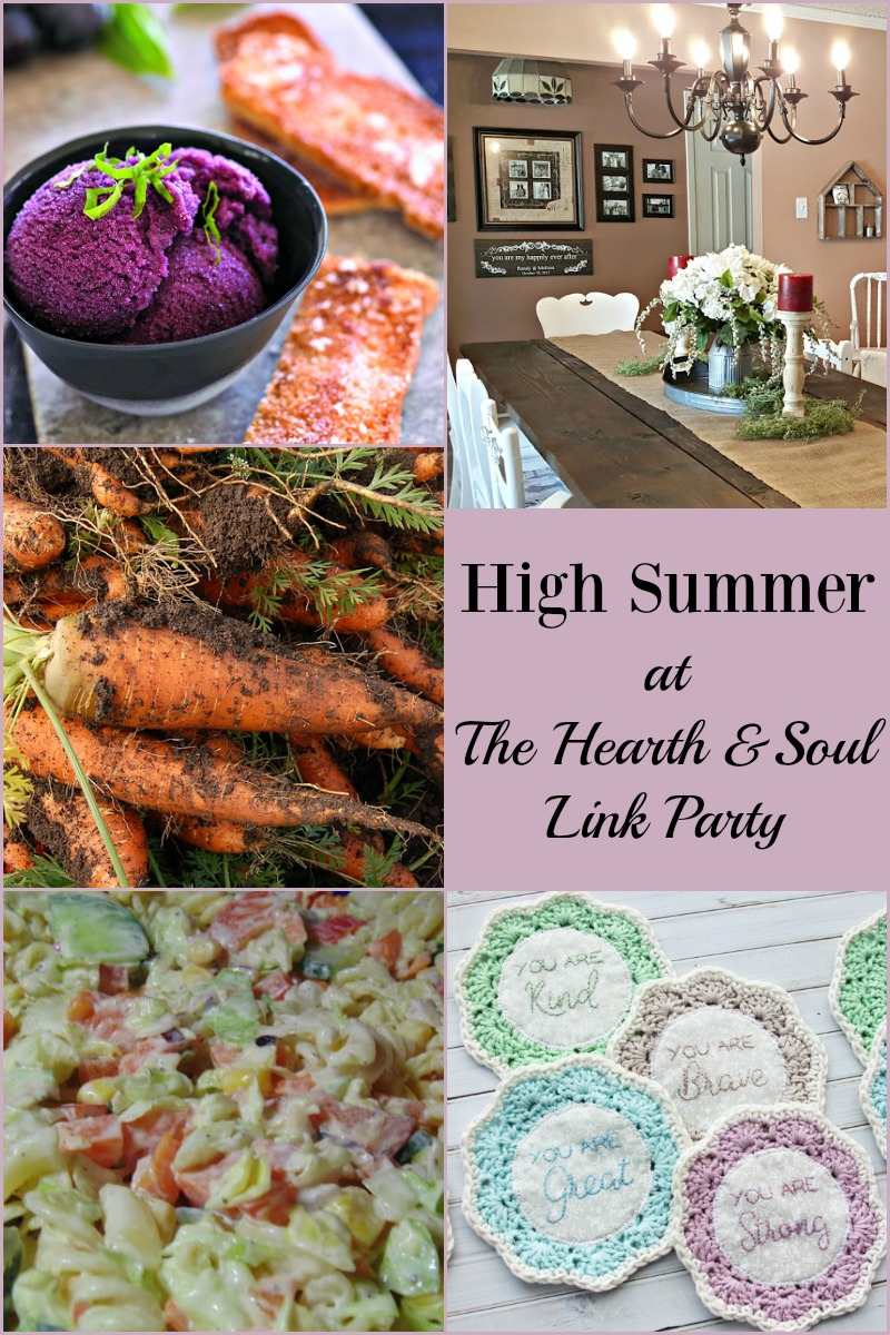 It's high summer at this week's Hearth & Soul Link Party! Join us for ideas to help make the season that extra special & to share your blog posts too.