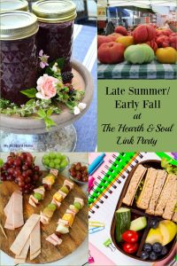 The Hearth and Soul Link Party welcomes all family friendly blog posts about anything that feeds the soul. This week we are celebrating late summer early fall!
