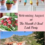 There are summer ideas galore at this week's Hearth and Soul Link Party where we are welcoming August and celebrating the best of late summer! Please join us and share your blog posts about anything that feeds the soul.
