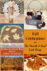 This is definitely the time for fall celebrations, and there are lots of ideas at Hearth and Soul to help make every day of this wonderful month special.