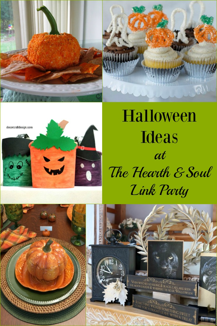With Halloween fast approaching, you are sure to enjoy the great ideas, decorations and recipes that are featured at this week's Hearth and Soul Link Party!