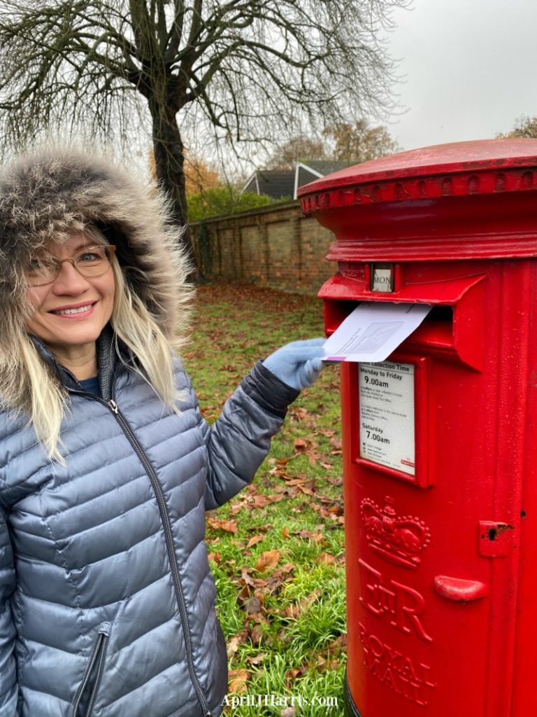Posting a postal vote for the UK election