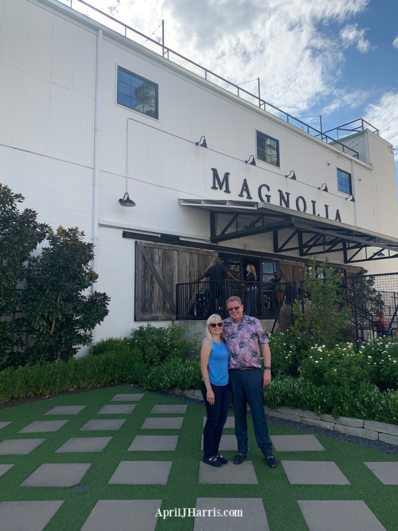 Guy and April Harris at Magnolia Market