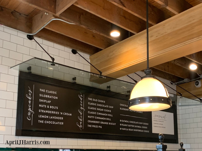 The menu at the Bakery at The Silos Magnolia Market